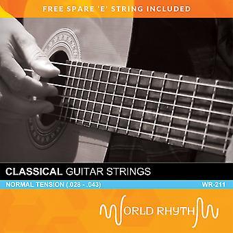 Normal Tension Nylon Classical Guitar Strings by World Rhythm