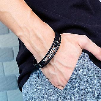 Hip Hop Simple Multi-layer Woven Tide Male Bracelet
