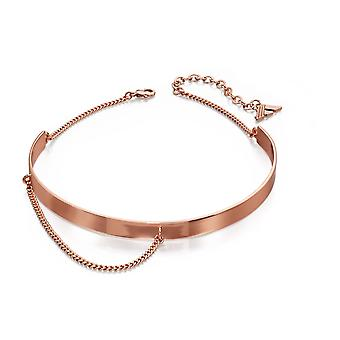 Fiorelli Fashion Rose Gold Plated Structured Choker & Chain Necklace 30cm + 7cm