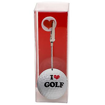 Photo and ticket holder golf ball I love golf