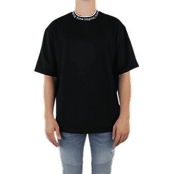 Acne Studios EXTORR LOGOTIPO RIB Black TSHI000243 Top