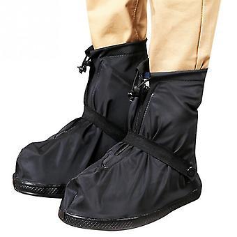 1pair Reusable Unisex Non-slip Wear-resistant Rainboots Waterproof Shoe Cover