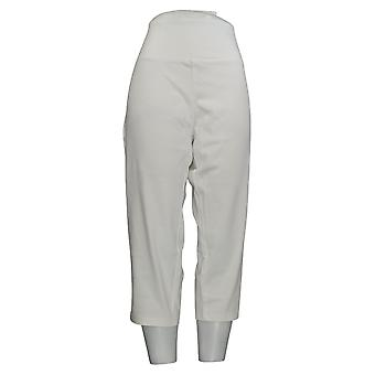 Women with Control Women's Petite Pants Stretch Crop Jeggings White A306461