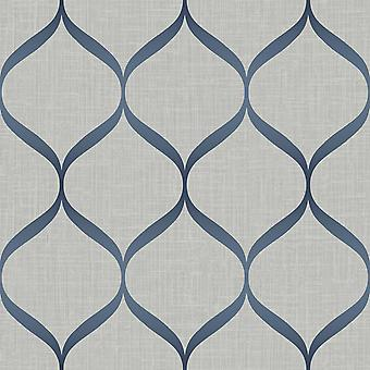 Pear Tree Trellis Grey Blue