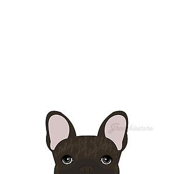 Frenchie Sticker | Frenchiestore | Brown Brindle French Bulldog Car Decal