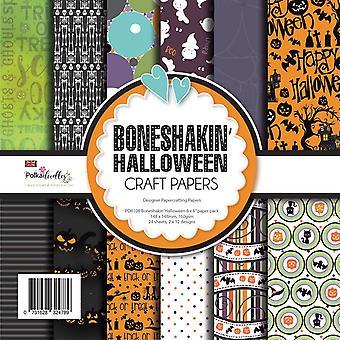 Polkadoodles Boneshakin Halloween 6x6 Inch Paper Pack