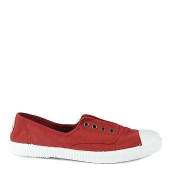 Victoria Shoes Dora Rojo Canvas Plimsolls