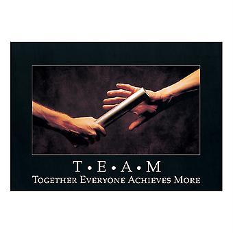 "T*E*A*M: Gemeinsam alle... Argus Poster, 13.375"" X 19"""