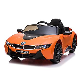 licenced bmw orange i8 coupe 12v electric ride on car one seater