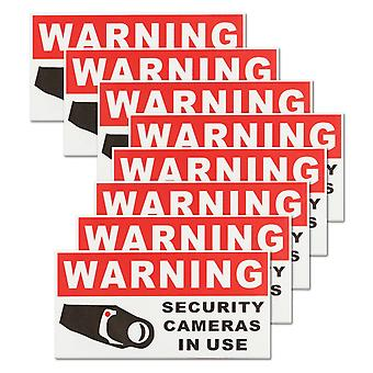 New Security Camera In Use Waterproof Self-adhesive Warning Stickers