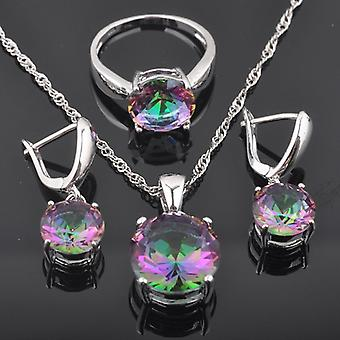 Jewelry Sets, Crystal Wedding Set, Cubic, Zirconia Ring, Necklace And Earrings