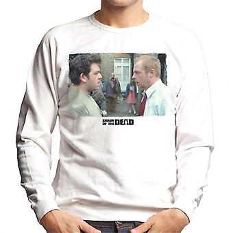 Shaun of the Dead Garden Scene Men's Sweatshirt