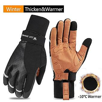 Sports Bicycle, Cycling Touch Screen, Winter Windproof, Skiing Fitness Gloves.