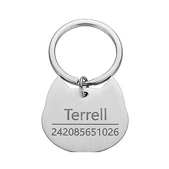Cat, Dog Id Tag Keychain Engraved, Pet Id Name, Collar Tag, Pendant Keyring,