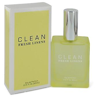 Clean Fresh Linens Eau De Parfum Spray By Clean 2.14 oz Eau De Parfum Spray