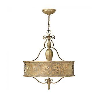 Lámpara Colgante Carabel, Champán, 3 Bombillas