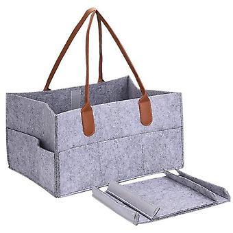 Foldable Felt Diaper Storage Bag, Multifunction, Kids Clothes, Handbag Baby