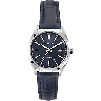 Accurist 8311 Námornícka modrá koža Dámske hodinky
