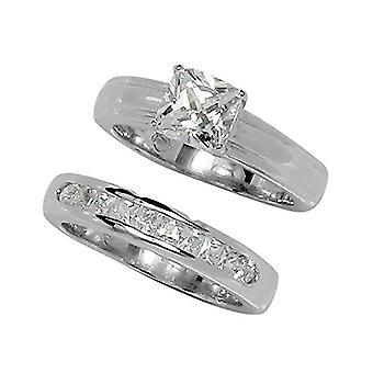 Classic Princess Cut Prong Set Wedding Set Style Ring