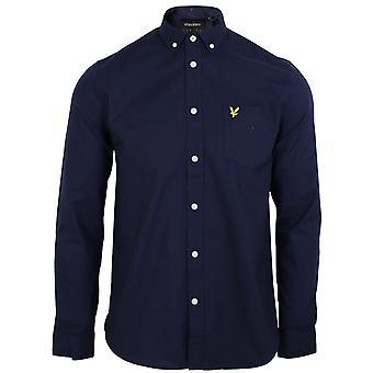 Lyle & scott uomini's camicia navy oxford