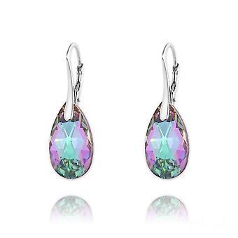 Çok renkli kristal küpeler
