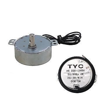 Synchrone motor AC 220-240V 2.5-3RPM 50/60Hz 4W CCW/CW TYC-50 7mm Dia As