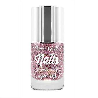 Beauty UK Glitter Nail Polish - Stardust Pink