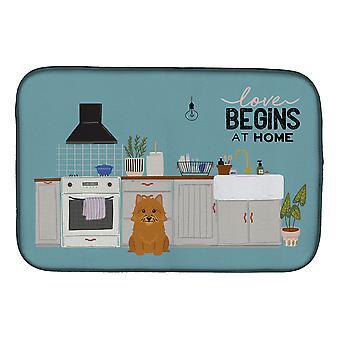 Carolines Treasures CK7724DDM Norwich Terrier Cocina Escena Plato de secado Alfombrilla