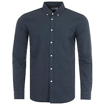 Portuguese Flannel Belavista Oxford Shirt - Navy