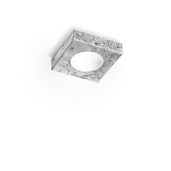 Opbouwspot - Vintage Zilveren Afwerking, 1x GX53