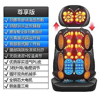 Elektryczny masażer szyi lędźwiowe ramiona tylne wielofunkcyjne wibracje ciała ugniatanie poduszki krzesło domowe 220v