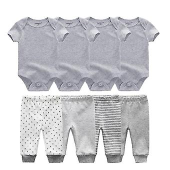 Spring-summer Bodysuits+pants, Baby Clothes Sets