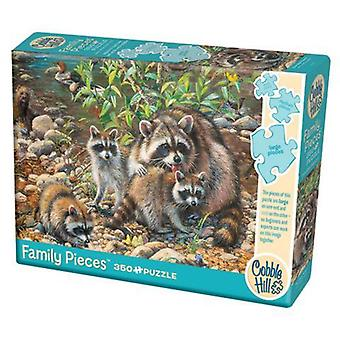 Cobble hill puzzle - raccoon family - 350 pc