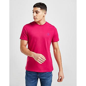 New Barbour Beacon Men's Box Logo T-Shirt from JD Outlet Pink