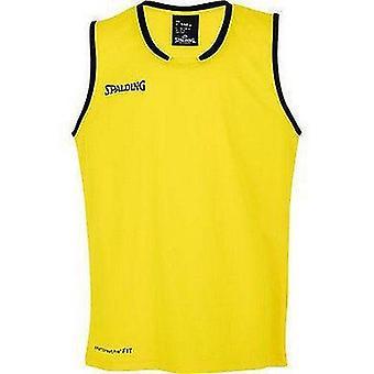 Spalding Move Tank Pánske Basketbal Top FIBA Potvrdená veľkosť - Vápno žltá / biela