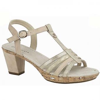 Cipriata Adona Ladies Heeled Sandals Light Gold/nude