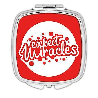 Miroir compact cadeau: Attendez-vous miracles chrétiens