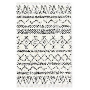 vidaXL Berbert Matto Korkea kasa PP Beige ja harmaa 160×230 cm