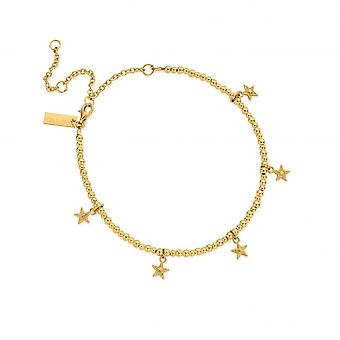 ChloBo Gold Mini Cute Multi Star Anklet GANMC3031