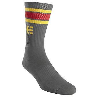 Etnies Rebound Socks - Grey / Yellow