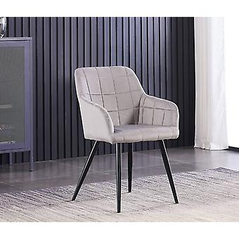 Lusso Lux Velvet Finish Dining Chair | Light Grey
