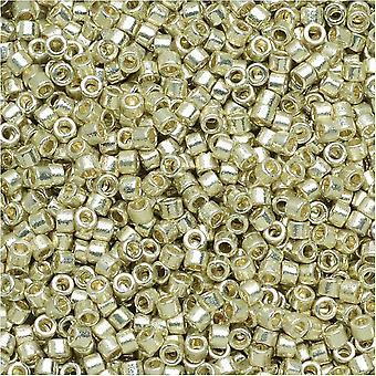 ميوكي ديليكا بذور الخرز، 11/0 الحجم، 7.2 غرام، دوراكوت المجلفن الفضة DB1831