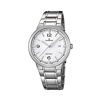 Quartz Men's Watch with Analog Display and Silver STAINLESS Steel Strap/C4510 1