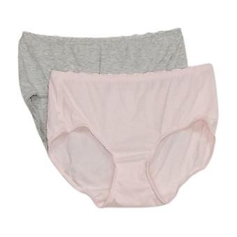 Rhonda Shear Panties 2-Pack Melange Brief Pink 685226