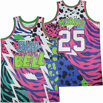 Mens Basketball Jersey #25 Saved By The Belll Space Movie Jersey 90s Hip Hop Clothing For Party S-xxl