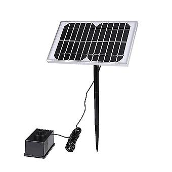 Black 5 w solar water pump sting floating submersible water fountain for pond pool aquarium fountains spout garden patio dt2639