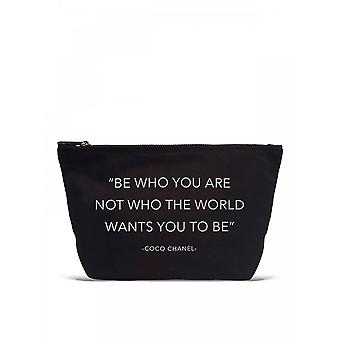 Los Angeles Trading Co. 'Be Who You Are...' Designer Black Pouch