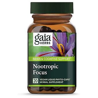 Gaia Herbs Nootropic Focus, 20 Count