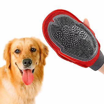 Hond kat haar kam schoonmaken borstel massage haar bad handschoen grooming kam