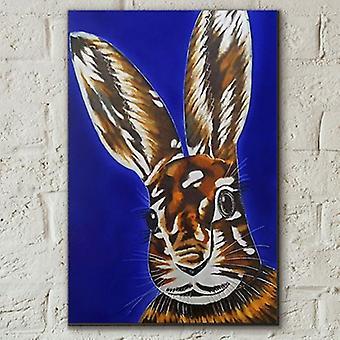 Azulejo 8x12 Hare Raising By S Fenner Wall Art